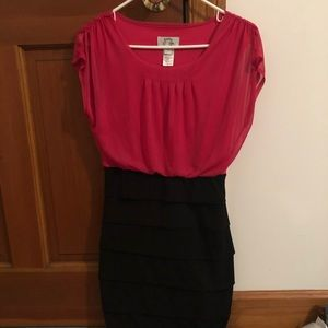 Black and pink party dress